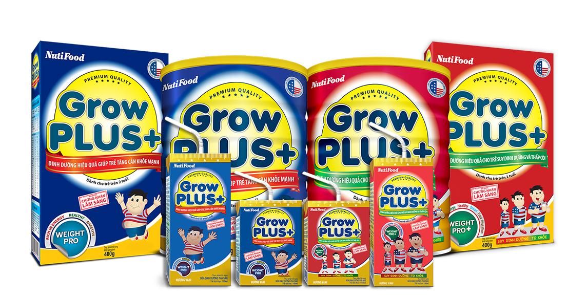 Growplus tăng cân khỏe mạnh cho trẻ