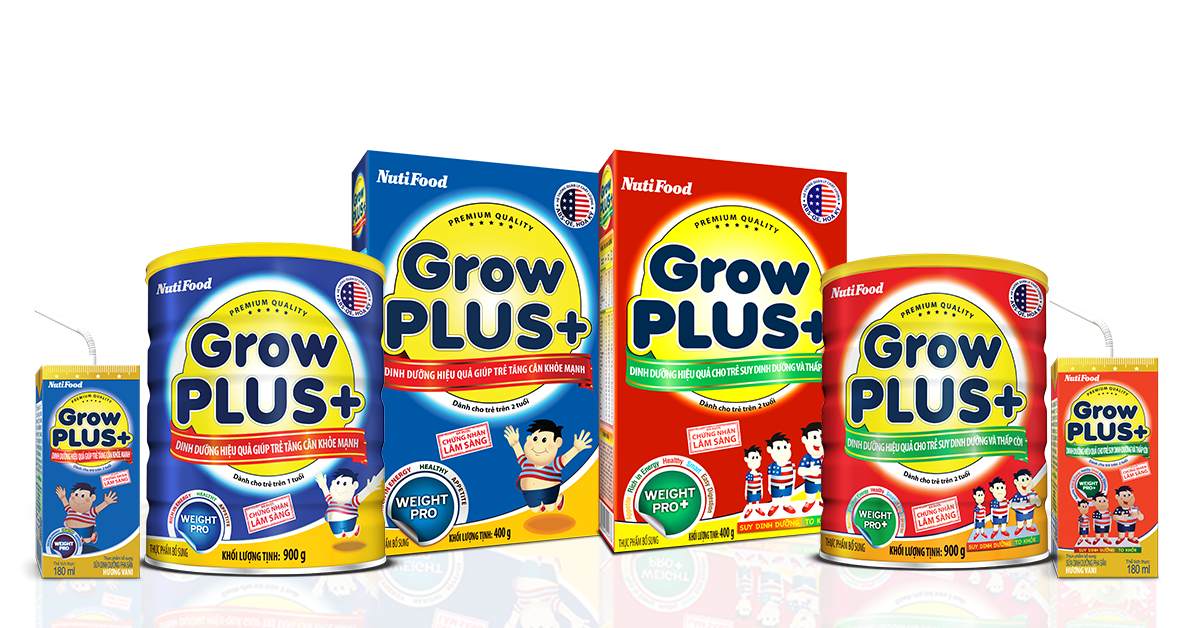 Sữa Growplus+ suy dinh dưỡng