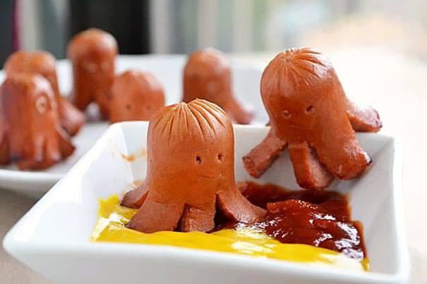Món ăn vặt quen thuộc bỗng biến thành những chú bạch tuộc xinh xắn