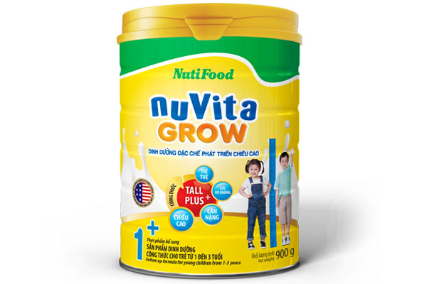 NuVita Grow 1+ for young children from 1-3 years