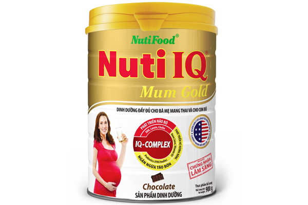 Nuti IQ Mum Gold chocolate flavor